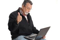aîné d'ordinateur portatif d'ordinateur Images libres de droits