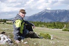 Aîné dans les montagnes, Autriche Photos libres de droits