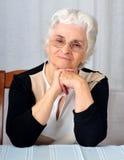 aîné de dame Photo stock