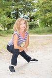 Aîné de femme de sport de forme physique retiré Photographie stock libre de droits
