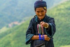 Aîné de minorité ethnique de mong de ` de H Photos libres de droits