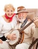 aîné de musique de couples de pays Images libres de droits