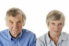aîné de verticale de couples Images libres de droits
