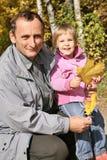 Aîné et petite-fille Photo stock