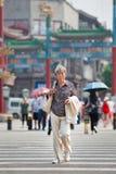 Aîné féminin de Gray Chinese, Pékin, Chine Images libres de droits