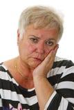 Aîné féminin triste Photographie stock