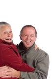 aîné heureux de couples Photographie stock libre de droits