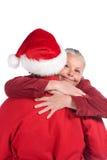 aîné heureux de couples de Noël Image stock