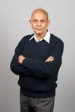 aîné indien asiatique d'homme Images stock