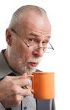 Aîné la cuvette de thé Images libres de droits