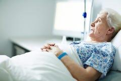 aîné patient Photo libre de droits