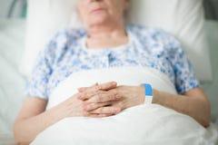 aîné patient Images stock