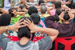 Aîné principal de massage image libre de droits