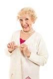 Aîné sans des sympt40mes d'arthrite Images libres de droits