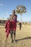 Aîné supérieur de masai dans le village du parc national de Nairobi, Nairobi, Kenya, Afrique Photographie stock libre de droits