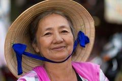 Aîné vietnamien drôle Images libres de droits