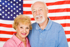 Aînés américains Photos stock