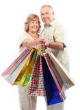 Aînés d'achats Image stock