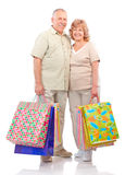 Aînés d'achats Photos stock