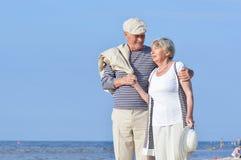 Aînés de couples des vacances Photo libre de droits