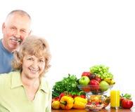 Aînés et fruits Photo libre de droits