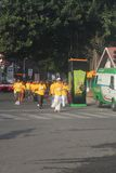 Aînés exécutés dans le marathon du monde 10k Bangalore Photographie stock