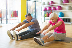 Aînés faisant des exercices de forme physique Image libre de droits