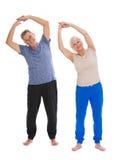 Aînés faisant des exercices de forme physique Images libres de droits