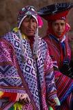 Aînés Quechua dans la vallée sacrée Photos stock