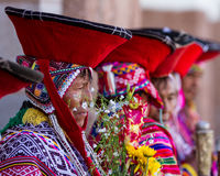 Aînés Quechua dans la vallée sacrée Images stock