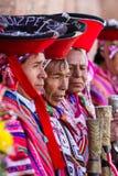 Aînés Quechua dans la vallée sacrée Photographie stock