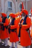 Aînés sikhs à la célébration de Vaisakhi Photo stock