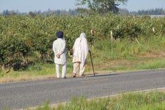 Aînés sikhs américains Photographie stock libre de droits