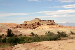 Aït Ben Haddou 2. Wiew from unesco site in morocco Stock Image
