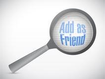 Añada como amigo bajo comentario. diseño del ejemplo Imágenes de archivo libres de regalías