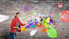 Añada el color y el día de fiesta a su vida Imagenes de archivo
