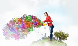 Añada el color y el día de fiesta a su vida Imagen de archivo libre de regalías