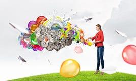 Añada el color y el día de fiesta a su vida Imágenes de archivo libres de regalías