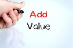 Añada el concepto del texto del valor Imagen de archivo libre de regalías