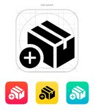 Añada el icono de la caja. Foto de archivo libre de regalías