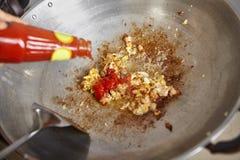 Añada la salsa Fotografía de archivo