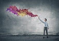 Añada más colores a su vida Técnicas mixtas Foto de archivo