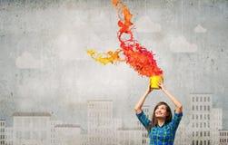 Añada un cierto color Fotografía de archivo libre de regalías