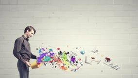 ¡Añada un cierto color a su vida! Imagen de archivo libre de regalías