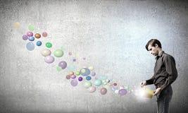 ¡Añada un cierto color a su vida! Imagen de archivo