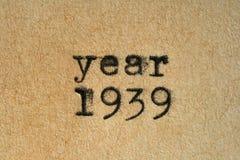 Año 1939 Imagenes de archivo