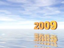 Año 2009 ilustración del vector