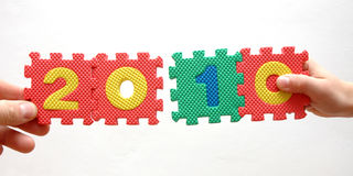 Año 2010 del rompecabezas Imagen de archivo libre de regalías