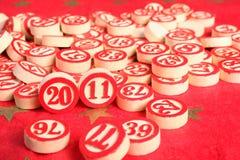 Año 2011 - números del bingo Imagen de archivo