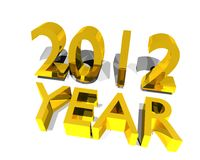 Año 2012 stock de ilustración